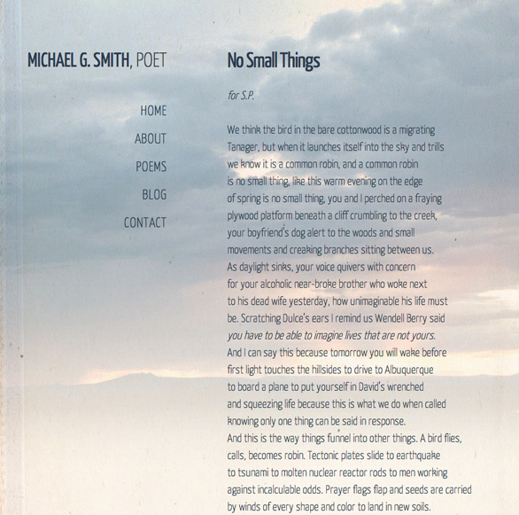 Wordpress web design for Santa Fe authors, poets and writers