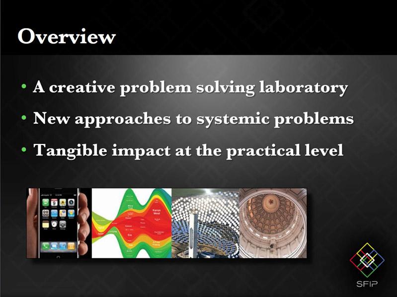 Santa Fe Innovation Park Powerpoint Bullet Slide