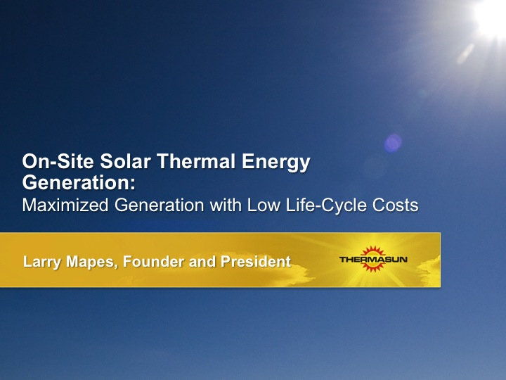 ThermaSun powerpoint presentation design