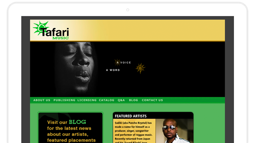 Tafari Music, Spirited Music Licensing