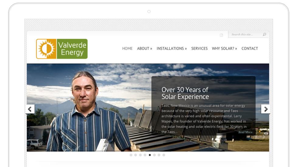 Valverde Energy–Taos Solar Energy Website