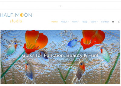 Half Moon Studio–Web Design for Taos Artist
