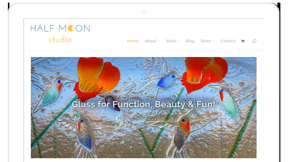Half Moon Studio–Web Design for Taos Artist