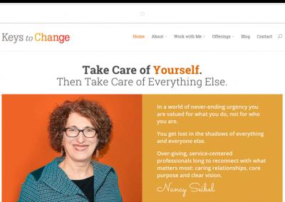 Keys to Change Life Coaching Website