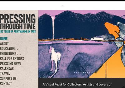Pressing Through Time–Taos Art Festival Website