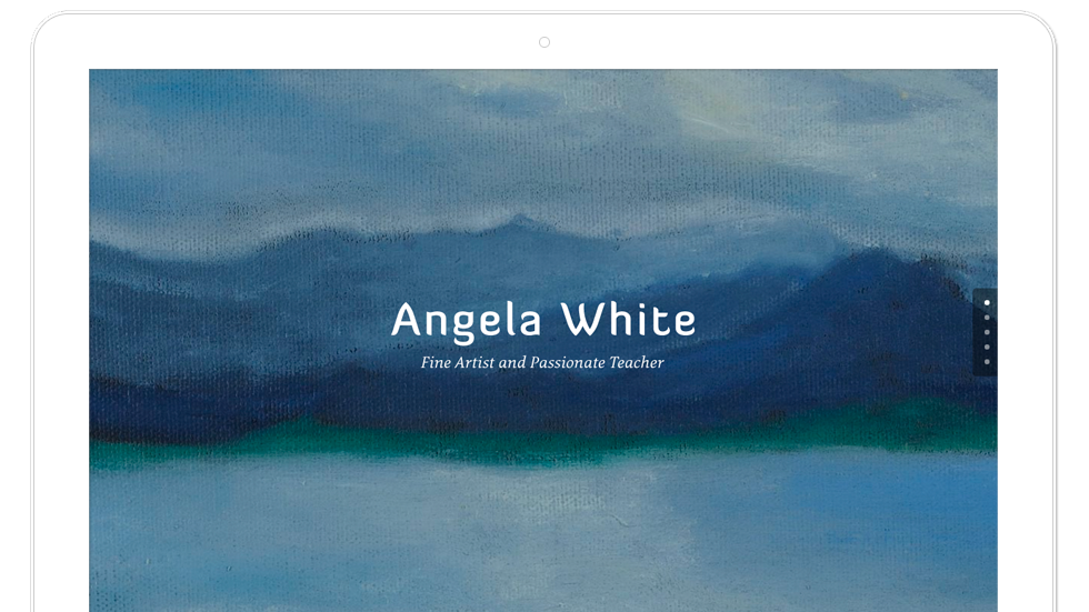 Web design for fine artist Angela White