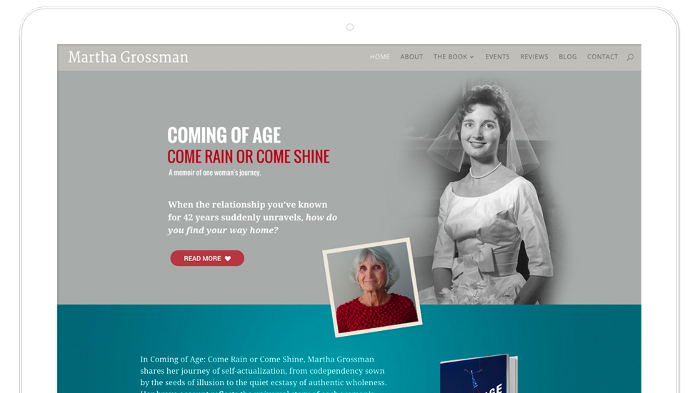 Website design for Taos author and memoirist Martha Grossman
